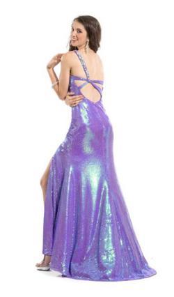Purple Size 12 Side slit Dress on Queenly
