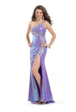Queenly size 12  Purple Side slit evening gown/formal dress
