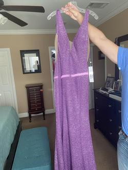 Jovani Light Purple Size 8 Lavender Backless Mermaid Dress on Queenly