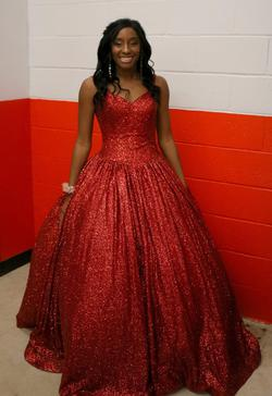 Queenly size 4  Red Ball gown evening gown/formal dress