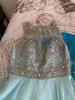 Queenly size 8 Jovani Blue Ball gown evening gown/formal dress