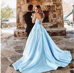 Blue Size 4 Ball gown on Queenly
