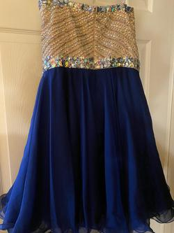Sherri Hill Blue Size 16 Pageant Cocktail Dress on Queenly