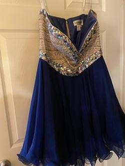 Queenly size 16 Sherri Hill Blue Cocktail evening gown/formal dress