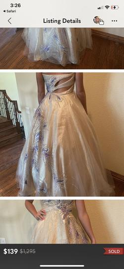 Mac Duggal Nude Size 6 Sweetheart Custom Ball gown on Queenly