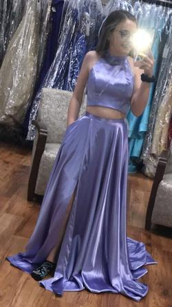Sherri Hill Light Purple Size 0 Halter Lavender Side slit Dress on Queenly
