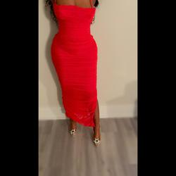Queenly size 8 House of CB Red Straight evening gown/formal dress
