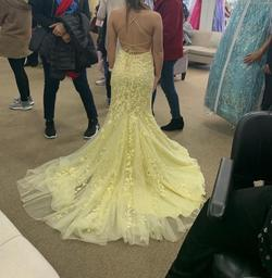 Sherri Hill Yellow Size 0 Corset Train Straight Dress on Queenly