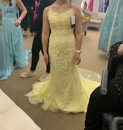 Queenly size 0 Sherri Hill Yellow Straight evening gown/formal dress