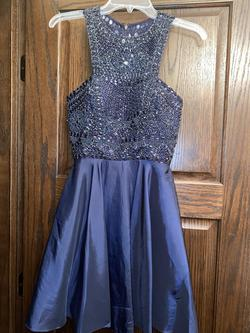 Queenly size 4 Sherri Hill Blue Cocktail evening gown/formal dress