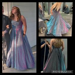 Queenly size 8  Multicolor Ball gown evening gown/formal dress