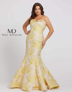 Queenly size 22 Mac Duggal Yellow Mermaid evening gown/formal dress