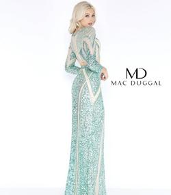 Mac Duggal Green Size 20 Plus Size Two Piece Sleeves Straight Dress on Queenly