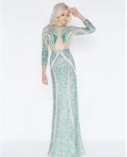 Queenly size 20 Mac Duggal Green Straight evening gown/formal dress