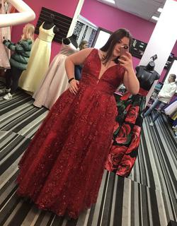 Top 10 Red Size 20 Mini Plus Size Ball gown on Queenly