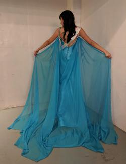 Ashley Lauren Blue Size 4 Pageant Tall Height Straight Dress on Queenly