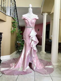 Mac Duggal Pink Size 4 Train Dress on Queenly