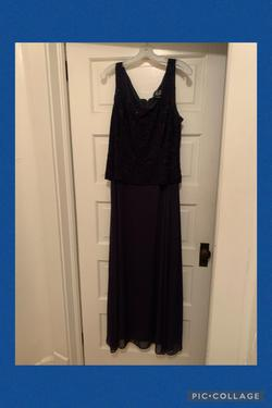 Alex Evenings Light Blue Size 18 Straight Dress on Queenly
