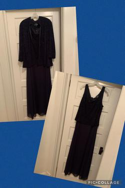 Alex Evenings Blue Size 18 Plus Size Navy Straight Dress on Queenly