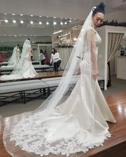 Sottero and Midgley White Size 6 Wedding Lace Mermaid Dress on Queenly