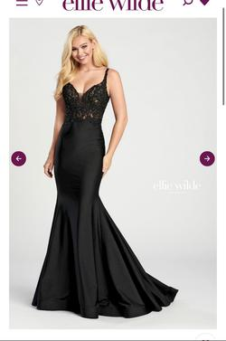 Queenly size 12 Ellie Wilde Black Mermaid evening gown/formal dress