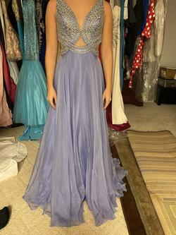 Queenly size 2  Purple Train evening gown/formal dress