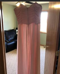 Alex & Sophia Pink Size 14 Strapless Plus Size Straight Dress on Queenly