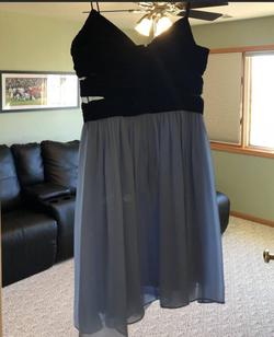Hailey Logan Blue Size 10 Sheer Wedding Guest Cocktail Dress on Queenly