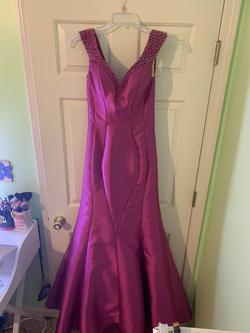 Queenly size 4 Mac Duggal Pink Mermaid evening gown/formal dress