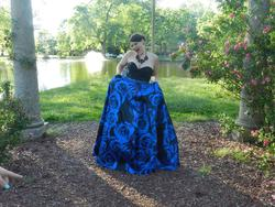 Mori Lee Blue Size 12 Corset Ball gown on Queenly