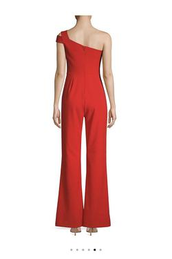 Likely Red Size 4 One Shoulder Interview Jumpsuit Dress on Queenly