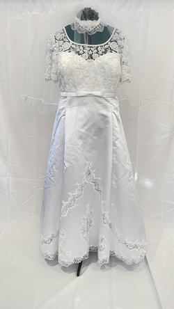 Queenly size 24 Gloria Vanderbilt White Train evening gown/formal dress