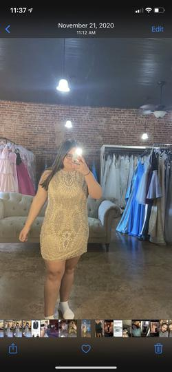 Nude Size 22 Cocktail Dress on Queenly