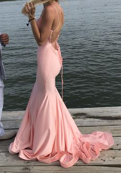 Sherri Hill Pink Size 0 Plunge Corset Mermaid Dress on Queenly