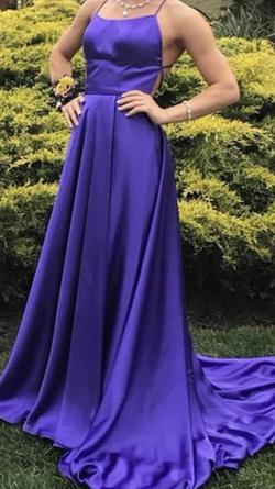 Sherri Hill Purple Size 0 Prom Train A-line Dress on Queenly
