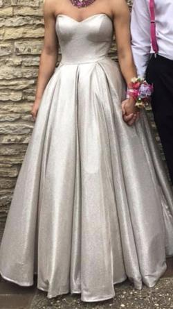 Queenly size 0  Silver Ball gown evening gown/formal dress
