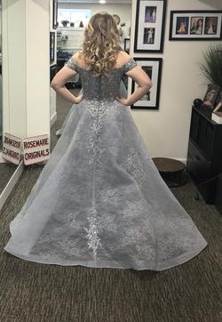 Style 16235 Morell Maxie Light Blue Size 10 Pageant Ball gown on Queenly