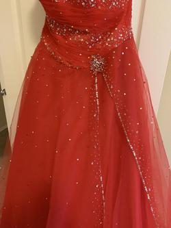 Mori Lee Red Size 6 Corset Ball gown on Queenly