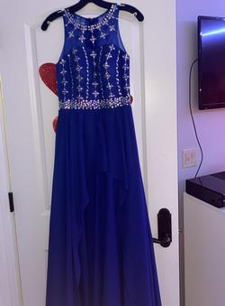 Blue Size 0 Train Dress on Queenly