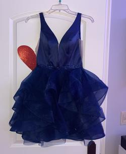 Queenly size 0 Splash Blue Cocktail evening gown/formal dress