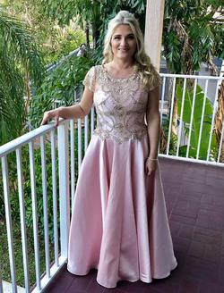 Pink Size 8 Train Dress on Queenly