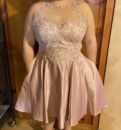 Queenly size 14  Pink A-line evening gown/formal dress