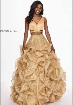 Queenly size 8 Rachel Allan Gold Ball gown evening gown/formal dress