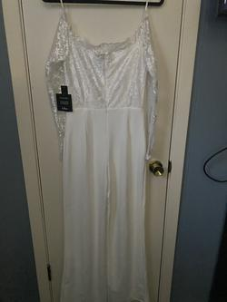 White Size 4 Jumpsuit Dress on Queenly