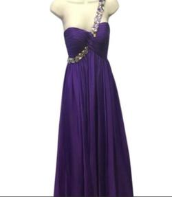 Queenly size 4 Mac Duggal Purple A-line evening gown/formal dress