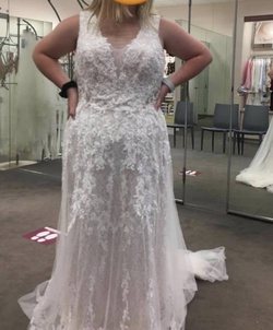 Queenly size 16  White Straight evening gown/formal dress