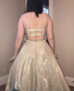 Sherri Hill Gold Size 8 Pageant Ball gown on Queenly