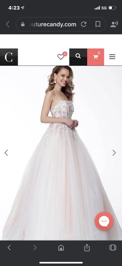 Style 66725 Jovani Multicolor Size 2 Corset Sheer Ball gown on Queenly