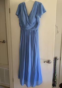 Blue Size 22 Straight Dress on Queenly