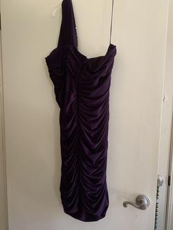 Purple Size 16 Side slit Dress on Queenly